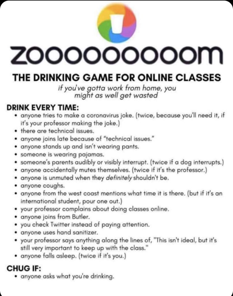 COVID-19 drinking game