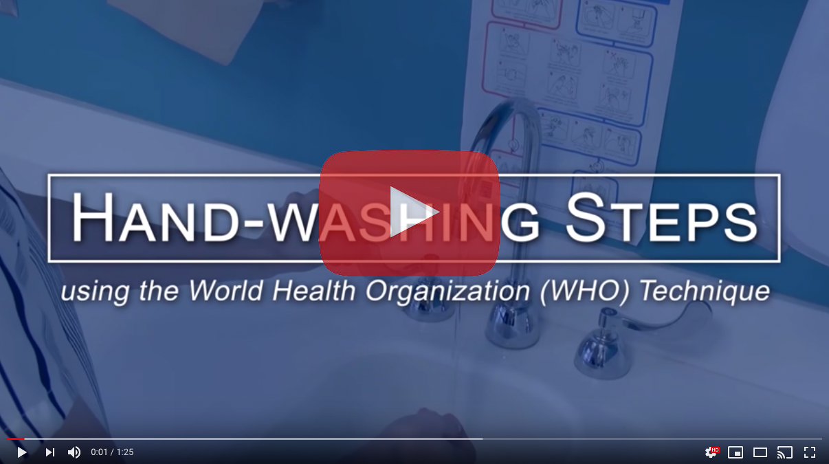 Hand-washing tips from the WHO.