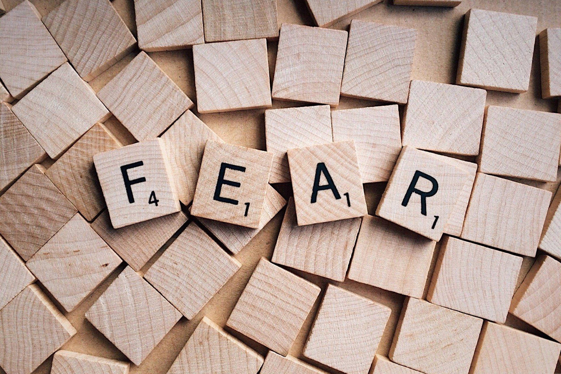 Scrabble tiles fear